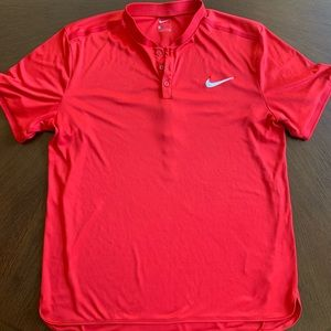 Nike Court Advantage Tennis Polo Red Large Federer